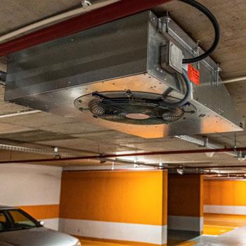 Sistem desfumare parcare